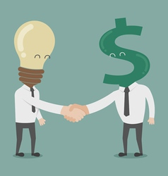 Businessman shaking hands vector