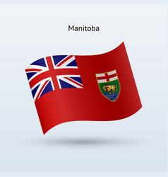 Canadian province manitoba flag waving form vector