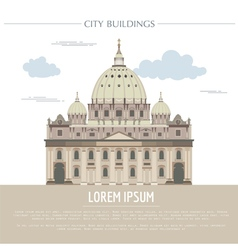 City buildings graphic template saint pyotr vector