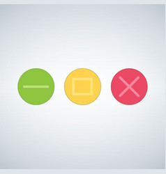 clean os or web multicolor buttons template close vector image