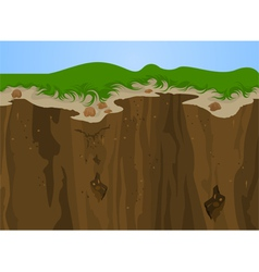 Cliff nature vector image