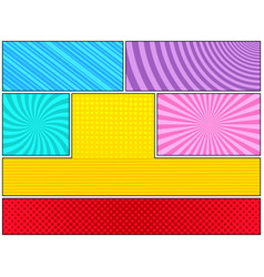 Comic colorful bright composition vector