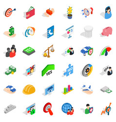 Creative icons set isometric style vector
