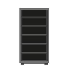 Dark wooden furniture vector