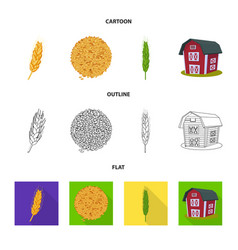 design of agriculture and farming logo set vector image