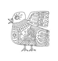 ethnic totem bird vector image