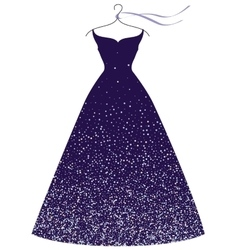 evening party dress fashion vector image