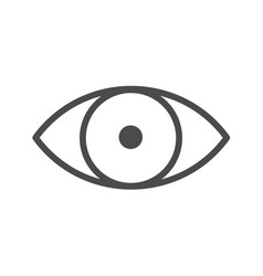 eye line icon eye with black pupil simple line vector image