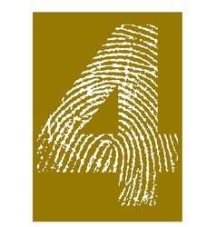 Fingerprint Alphabet No 4 vector