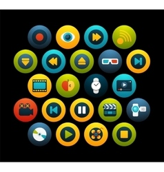 Flat icons set 5 vector