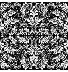Floral vintage black and white seamless vector