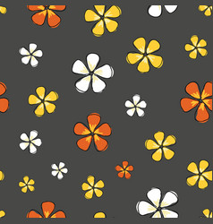 flowers colorful blossoms on a gray background vector image