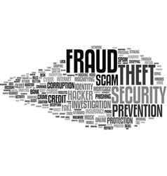 Fraud word cloud concept vector