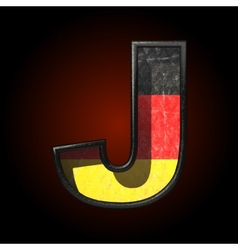 Germany cutted figure j vector