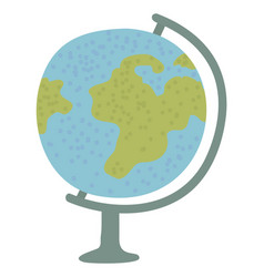 globe model earth planet geography lessons vector image