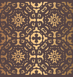 Golden arabesque pattern vector