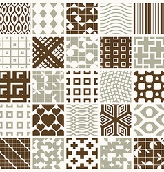 Graphic ornamental tiles collection set of vector image