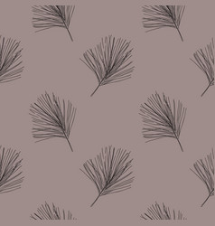 grey fir winter holidays seasonal christmas decor vector image