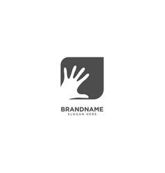 Hand logo design abstract sign vector