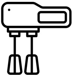 Hand mixer icon bakery and baking related vector