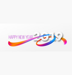 Happy new year 2019 banner design vector