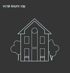 house icon line element of vector image