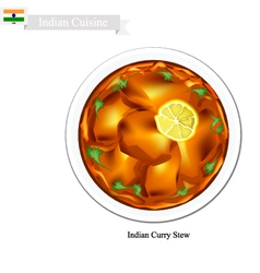 Indian Curry A Famous Dish in India vector
