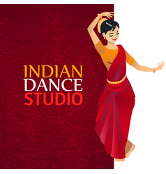 Indian dance studio template vector