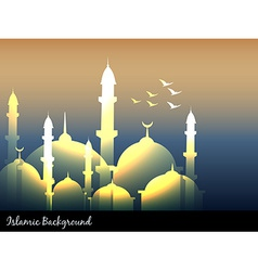 Islamic mosques vector
