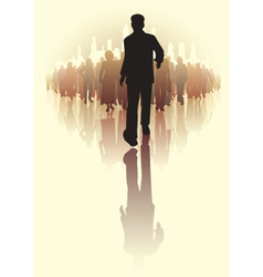 Leading the way vector image