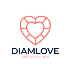 love diamond logo icon design template sign vector image