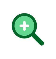 magnification icon concept for web and mobile vector image