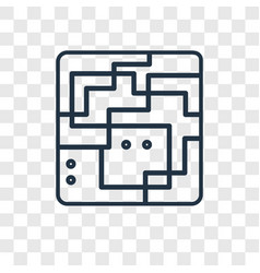 maze concept linear icon isolated on transparent vector image