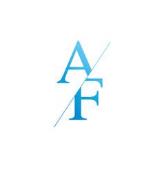 Monogram letters a f logo design template vector