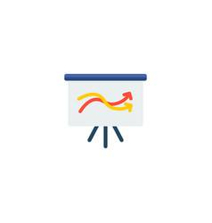 presentation icon flat element vector image