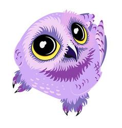 Purple owl vector