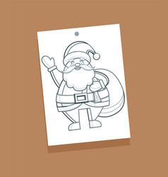 santa claus sketch picture vector image