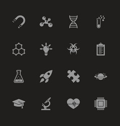 science - flat icons vector image