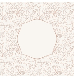 Seamless background with frame vector image vector image