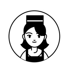 seller woman professional person block line vector image