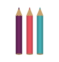 Set of colored pencils icon vector image