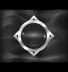 silver wavy lines luxury vector image