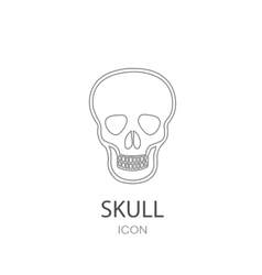 Skull icon Flat style object Art picture drawing vector