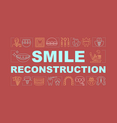 Smile reconstruction word concepts banner vector