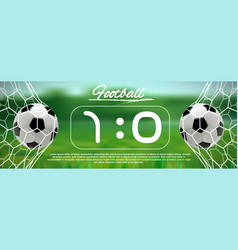 Soccer or football ball on green background vector