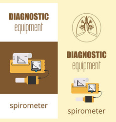 Spirometer medical equipment vector