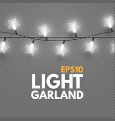 star light garland on transparent background vector image