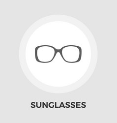 Sunglasses flat icon vector