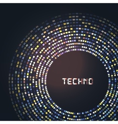 Technology round for your logo template can be vector