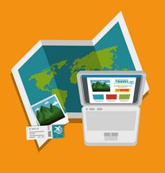 Traveling around world design vector
